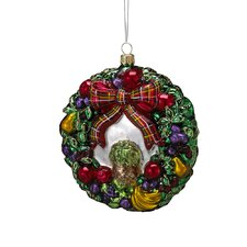 Polonaise Christmas Fruit Wreath Ornament