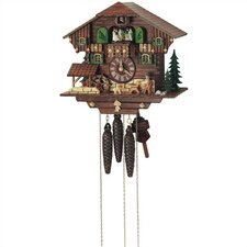 "11"" Cuckoo Clock with Beer Drinker and Water Wheel"