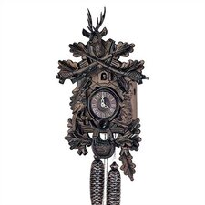 "14"" Traditional Cuckoo Clock with Deer and No Posthorn"