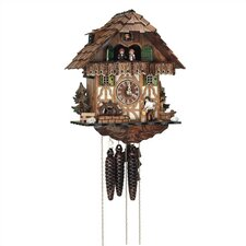 "12.5"" Cuckoo Clock with Tudor Style House"