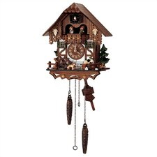 "13"" Quartz Cuckoo Clock with Tudor Style House"