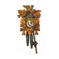 "12"" Traditional Cuckoo Clock with Leaves and Bird"
