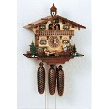 "13"" Chalet Cuckoo Clock with Tetter-Totter and Dancing Children"