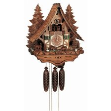 "18"" Chalet Cukoo Clock with Moving Bears, Woodchucks and Water Wheel"