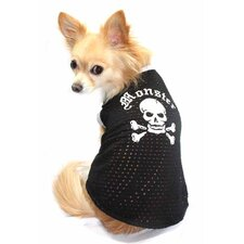 Mesh Monster Dog Tank in Black