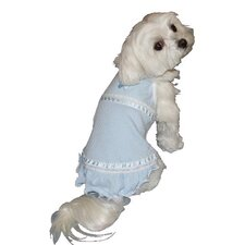 Butterfly Dog Dress in Blue