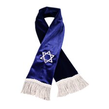 Star of David Dog Scarf in Royal Blue
