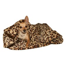 Cheetah Mink Trundle Dog Blanket in Brown