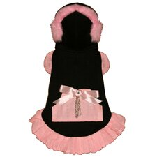 <strong>Hip Doggie</strong> Earmuff Dog Dress in Pink