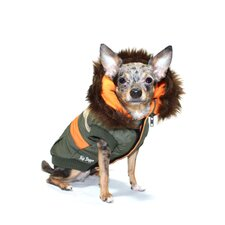 Urban Ski Dog Vest Version 2 in Olive