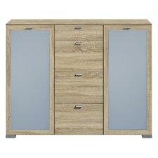 Highboard Gallery mit 2 Floatglastüren und 4 Holzschubkästen