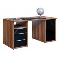 """Schreibtisch """"Work"""" mit 3 Glasschubkästen und 1 Glastür"""