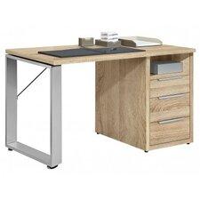 """Schreibtisch """"Work"""" mit Metallfuß, Winkelfuß und Unterbauschrank"""