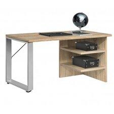 """Schreibtisch """"Work"""" mit Metallfuß, Winkelfuß und 2 Ablageböden"""