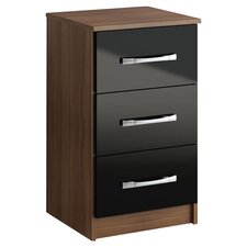 Lynx 3 Drawer Bedside Table
