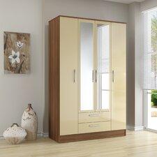 Lynx 4 Door 2 Drawer Wardrobe with Mirror
