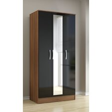 Lynx 3 Door Wardrobe with Mirror