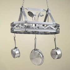<strong>Hi-Lite</strong> Sonoma 8 Sided Hanging Pot Rack with 2 Lights