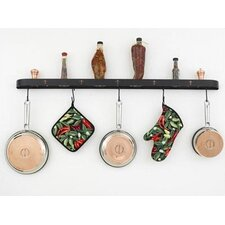 "<strong>Hi-Lite</strong> Fleur de Lis 46"" Wall Mounted Pot Rack"