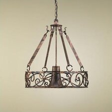 <strong>Hi-Lite</strong> Authentic Iron Circular Hanging Pot Rack with Light