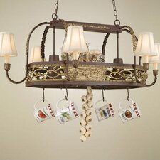 <strong>Hi-Lite</strong> Napa Chandelier Pot Rack with Shade