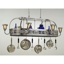 <strong>Hi-Lite</strong> Leaf Chandelier Pot Rack with Shade