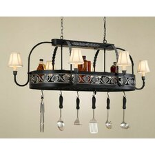 <strong>Hi-Lite</strong> Leaf Chandelier Pot Rack
