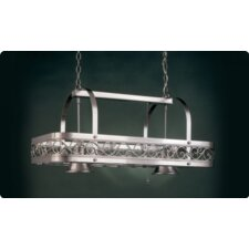 <strong>Hi-Lite</strong> Odysee Rectangular Hanging Pot Rack with 2 Lights