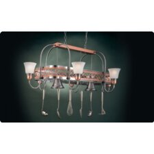 <strong>Hi-Lite</strong> Odysee Rectangular Hanging Pot Rack with 8 Lights