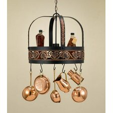 Leaf Hanging Pot Rack with Light