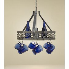 <strong>Hi-Lite</strong> Napa Hanging Pot Rack with Light