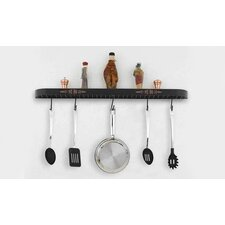 "<strong>Hi-Lite</strong> Monterey 34"" Wall Mounted Pot Rack"