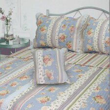 <strong>J&J Bedding</strong> Berkely Floral Stripe Quilt Collection