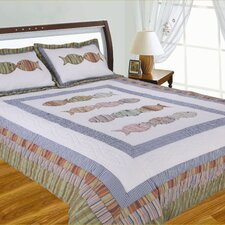 <strong>J&J Bedding</strong> Handcrafted Fish Quilt Collection