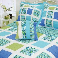 <strong>J&J Bedding</strong> Ocean Square Patchwork Quilt Collection
