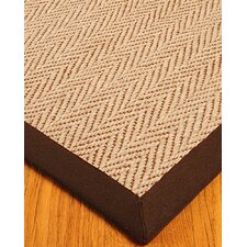 Jute Cream / Brown Emblem Rug