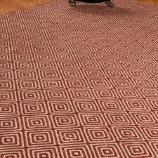 Jute Cream / Red Retro Rug