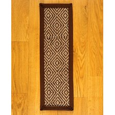 Brio Brown / White Carpet Stair Tread (Set of 13)