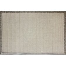 Herringbone Border Beige Indoor/Outdoor Rug