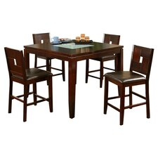 <strong>Alpine Furniture</strong> Lakeport 5 Piece Counter Height Dining Set