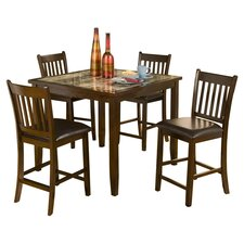 <strong>Alpine Furniture</strong> Capitola 5 Piece Dining Set