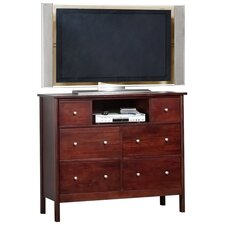 <strong>Alpine Furniture</strong> Costa 6 Drawer TV Media Chest