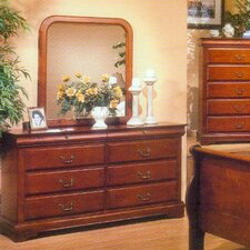 <strong>Alpine Furniture</strong> Louis Philippe 8 Drawer Dresser