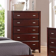 <strong>Alpine Furniture</strong> Carrington 5 Drawer Chest