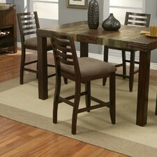 Sedona Counter Height Stools With Distressed Microfiber Cushion