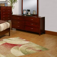 <strong>Alpine Furniture</strong> Newport 6 Drawer Dresser