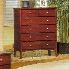 <strong>Alpine Furniture</strong> Costa 6 Drawer Tall Boy Chest