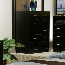 <strong>Alpine Furniture</strong> Manhattan 5 Drawer Tall Boy Chest