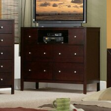 Solana 6 Drawer Media Chest