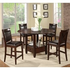 <strong>Alpine Furniture</strong> Morgan 5 Piece Counter Height Dining Set